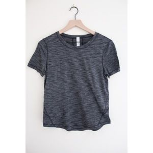 • LULULEMON ASH GREY WORKOUT TOP SZ 4 •